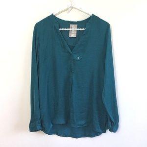 DOLAN LEFT COAST SZ XS Teal Shirt FLAWED